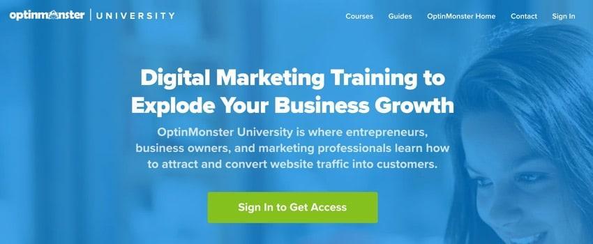 Optinmonster - digital marketing course