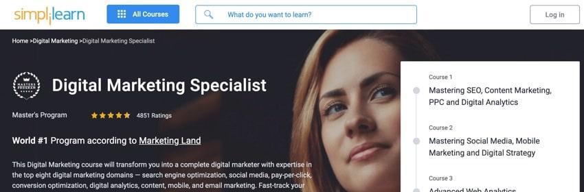 simplilearn - online digital marketing course