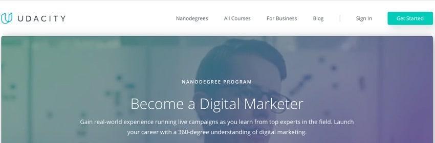 Udacity - online digital marketing course siliguri